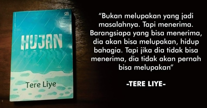 Review Novel Hujan- Tere Liye